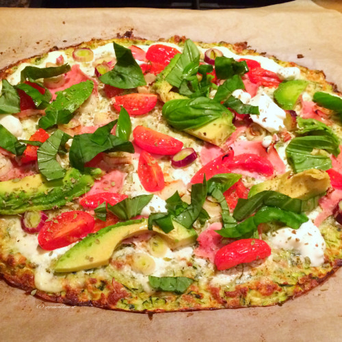 {Food} Zucchini Pizza